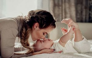 Delightful Babies with mother
